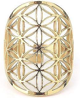 Niumen Ring holle ring verstelbare roestvrij stalen ring Heilige geometrie sieraden voor vrouwen mannen roestvrij staal ba...
