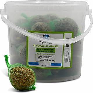 Lot de 2.7 Kg de Boules de Graisse pour Oiseaux. Environ 30 Boules. Nourriture