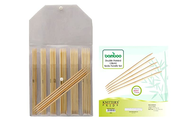 Knitter's Pride Bamboo Double Pointed 8-inch (20cm) Knitting Needles Set 900526