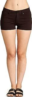 womens brown denim shorts