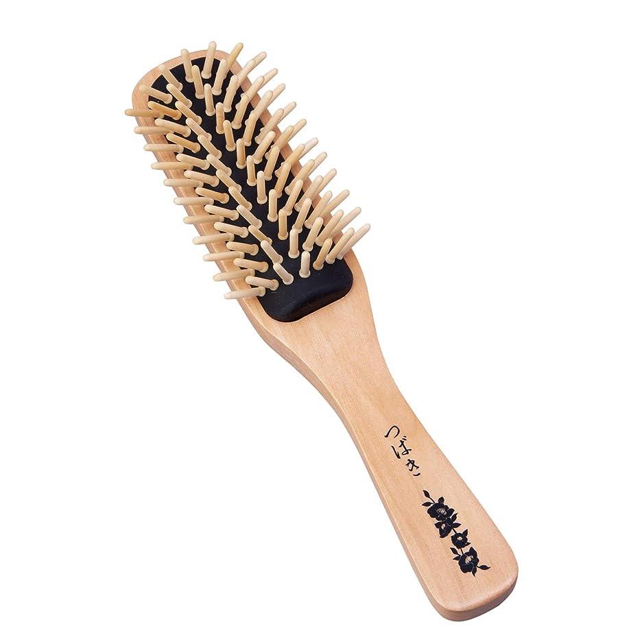 摩擦誰も多様体椿油のつげブラシ 髪の毛 ヘアブラシ ブロー さらさら 伊豆利島産 国産