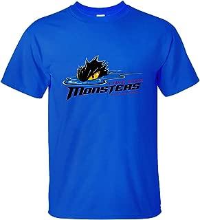 Men's Top Lake Erie Monsters Logo Soft Cotton Short Sleeve T-Shirt