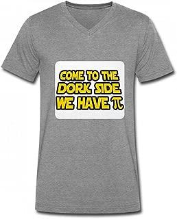 私たちはパイを持っている側に来て Men V Neck T-Shirts メンズ Tシャツ