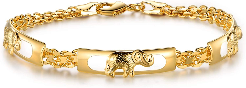 San Antonio Weekly update Mall Barzel 18K Gold Plated Elephant Bracelets For Gifts Wom