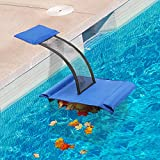 Weewooday Swimming Pool Net Leaf Liberate Hands Skimmer with Animal Saving Escape Ramp, Heavy Duty Pool Leaf Fine Mesh Cleaning Net Skimmer, Rescue Pool Critter Saver Floating Ramp Accessories