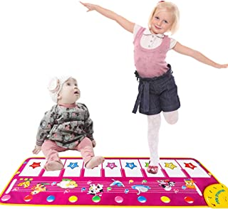 YAZOM Musical Piano Mat for Baby Toddler, Early Educational Toys for Boys Girls Birthday Xmas Gifts for Kids