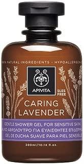 Apivita Caring Lavender Gentle Shower Gel For Sensitive Skin 300ml/10.14oz