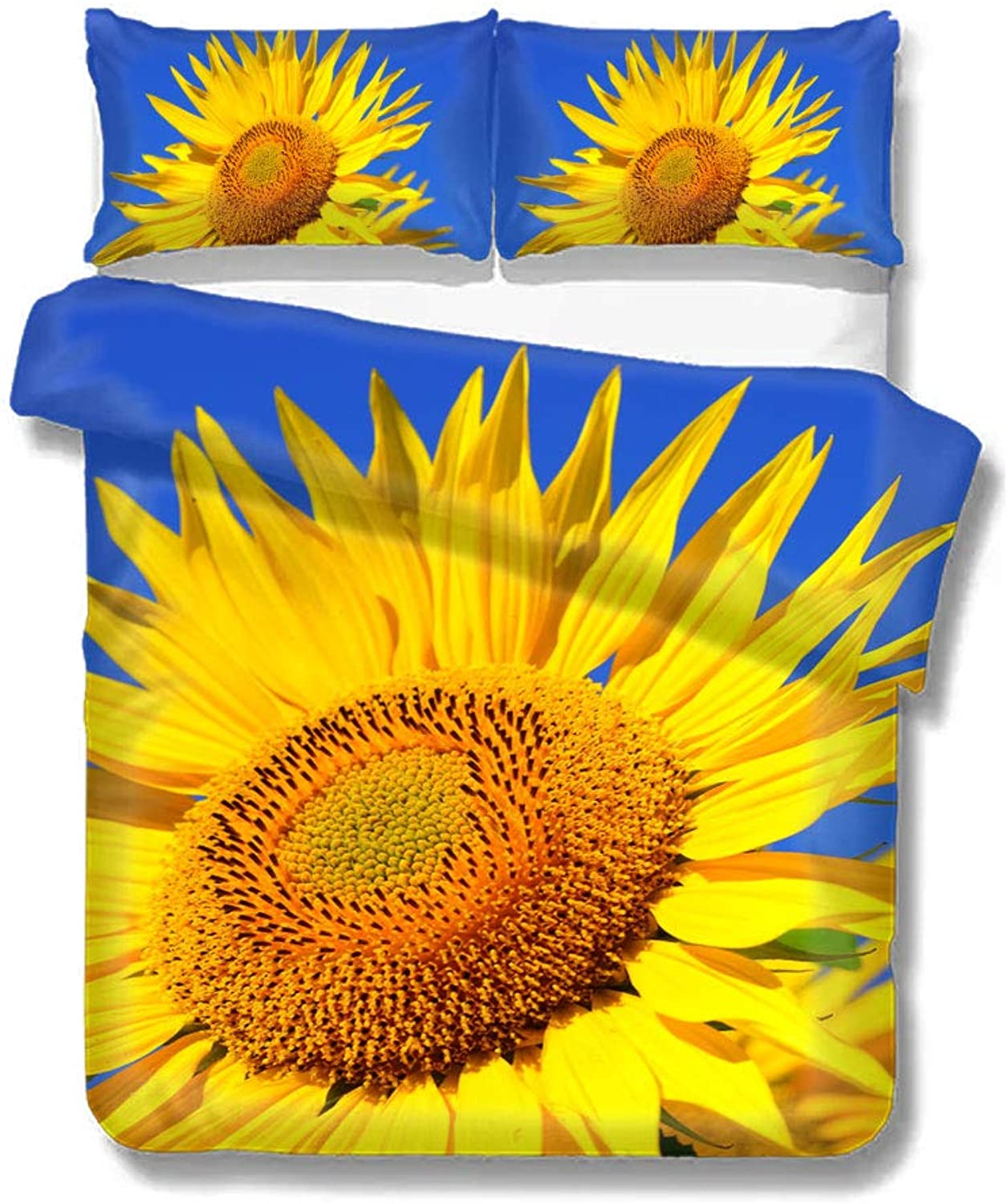 Duvet Cover Sunflower Summer Beautiful Bloom BlossomHome Bedding Duvet Cover Set Soft Comfortable Breathable Twin Size