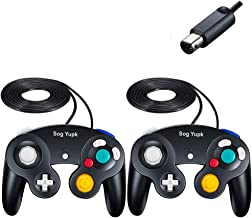 Gamecube Controller, SogYupk Wired Controllers Classic Gamepad 2 Pack Joystick for Nintendo and Wii Console Game Remote (B...