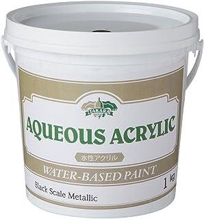 水性塗料 アイアン ツヤ消し メタリック ブラックスケールメタリック 1kg JQ5 ディッピンペイント Dippin' Paint