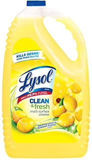 Lysol Disinfectant All Purpose Cleaner, Lemon Scent, 144 oz