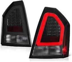 VIPMOTOZ Chrome Smoke Premium OLED Neon Tube LED Tail Light Housing Lamp Assembly For 2005-2007 Chrysler 300C Driver and Passenger Side Replacement