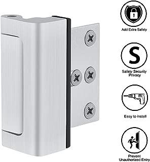 Home Security Door Lock with 6 Screws, Childproof Door Reinforcement Lock with 3