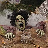 Climbing Zombie Ground Breaker with Sound and Flashing Eyes - Halloween Decorations