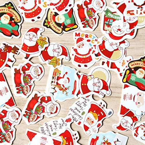 BLOUR 48 Stück/Set Kinder Weihnachten Weihnachtsmann Album Papier Etikett Aufkleber BastelspielzeugWeihnachten Dekorative Aufkleber