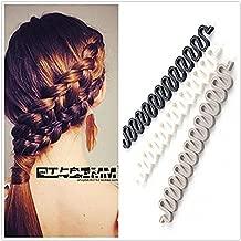 3Pcs (Black,Grey,White) Women Hair Styling Clip DIY French Hair Braiding Tool Roller Bun Maker Hairstyle Braid Tool Twist Plait Hair Braiding Tool Hair Accessories
