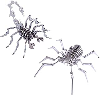 Model Building Kits - DIY Stainless Steel Metal Animal Puzzle Model Kit Assembly Crafts Gift Set - Little Scorpion+Spider ...
