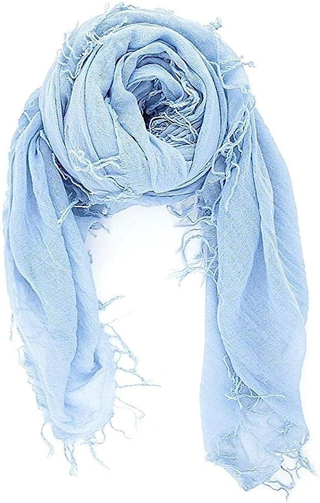 Chan Luu Cashmere Blue Cashmere & Silk Soft Scarf Shawl Wrap