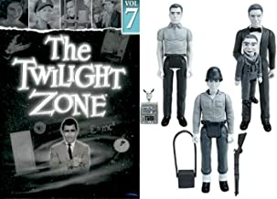 Hansen The Twilight Zone: Rod Serling's landmark series DVD TV 4 episodes Hitch-Hiker / Shadow Play / Perchance Dream / King Nine Will Not Return + Don Carter Dummy 3 Black & White Collectable Figures