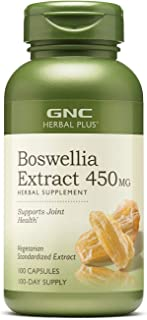 GNC Herbal Plus Boswellia Extract 450mg, 100 Capsules, Supports Joint Health