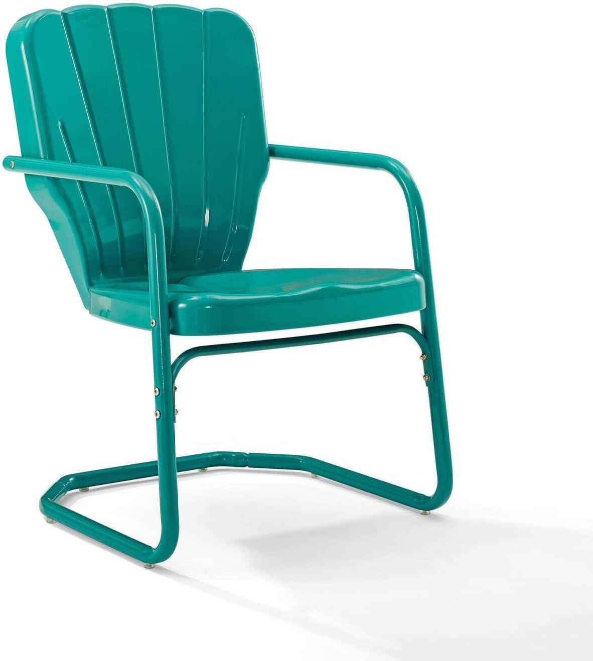 Crosley Furniture Department store CO1031-TU Ridgeland Metal Retro Popular products Chair Turquoi