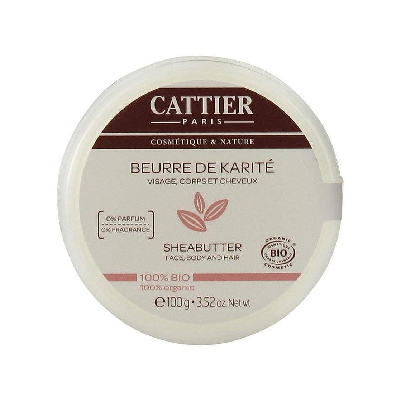 ペパーミントだらしない崖Cattier Shea Butter 100% Organic 100gr [並行輸入品]