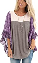 Eaktool Women Irregular Sleeve Tops Pullover Sweater Asymmetric Hem Cowl Neck Fleece Casual Fashion Shirts Blouse