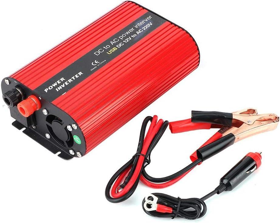 Inversor de energ/ía USB 3000W Convertidor de energ/ía port/átil DC 12V a AC 220V-240V Convertidor de cargador USB dual Inversor de energ/ía para autom/óvil 220V