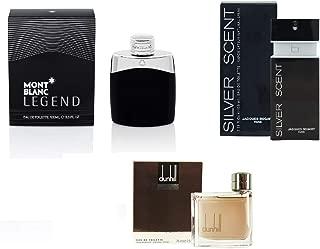 Bundle of 3 Perfumes for Men, Mont Blanc Legend, Dunhill Brown & Jacques Bogart Silver Scent