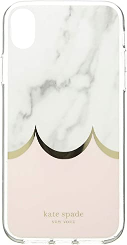 Marble Scallop Phone Case for iPhone XR