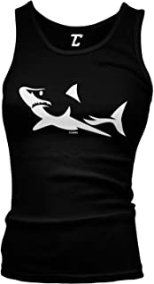 Shark Silhouette - Great White Hammerhead Juniors Tank Top