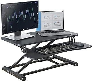 HEYMIX Standing Desk, Ergonomic Computer Desk Converter Gas Spring Adjustable Height for Home Office Workstation