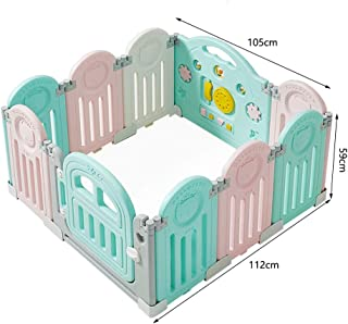 Fence-products Baby Playpen Folding With Lock Door Safety Play Yard Indoor Outdoor Infant Toddlers Activity Center Kids Child Room Divider  Size panel