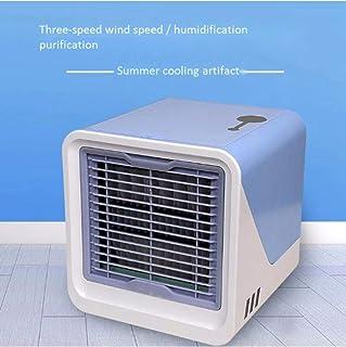 Pequeño Ventilador Pequeños Aparatos De Aire Acondicionado Usb Arctic Air Cooler Mini Ventilador Ventilador De Aire Acondicionado Aire Acondicionado Portátil De Verano Summer 16.5 * 16.5 * 17Cm)