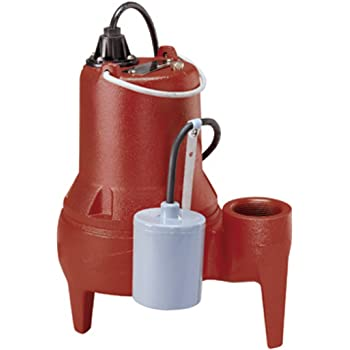 ZHEJIANG Acquaer 1//2 HP Durable Cast iron Sewage Pump with 10ft LEO Group Pump Ltd Co power cord+Piggy back switch