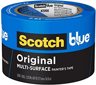 3M 2090-72A Scotch 2090 Painters Tape: 2.83 x 60 yd, Blue