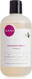 Natural Moisturizing Shampoo by DANI Naturals - Juicy Passion Fruit Scent - Organic Aloe Vera & Coconut Cleansers - Sulfate, Phthalate & Paraben Free - Vegan & Cruelty Free - 12 Ounces