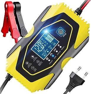 YDBAO Chargeur de Batterie 6A 12V/24V Chargeur Auto Moto avec Fonction Réparation Protection Multiple LCD Écran Tactile po...