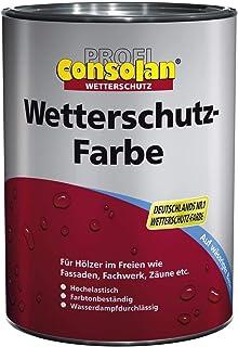 Consolan Profi Wetterschutzfarbe Holzschutz außen 2,5 Liter Ral 7016 Anthrazitgrau