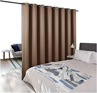 NICETOWN Room Dividers Curtains Screens Partitions, Wide Width Grommet Top Partition Room Divider Panel for Living Room, Bedroom for Baby Room (1 Pack, 8ft Tall x 15ft Wide,Cappuccino)