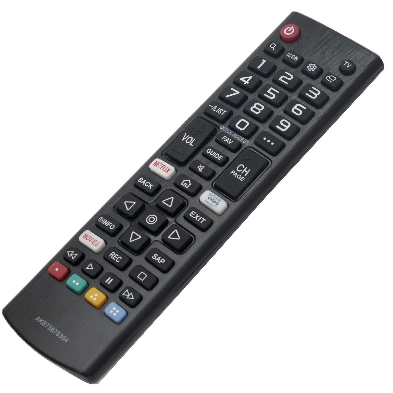 AKB75675304 - Mando a Distancia para televisor LG Smart TV HDTV 32LM5620BPUA 32LM570BPUA 32LM620BPUA 32LM630BPUB 32LM6350PUA 32LM639BPUB 43LM5700PUA 43LM6300PUB 55UM69 65UM73000PUA: Amazon.es: Electrónica