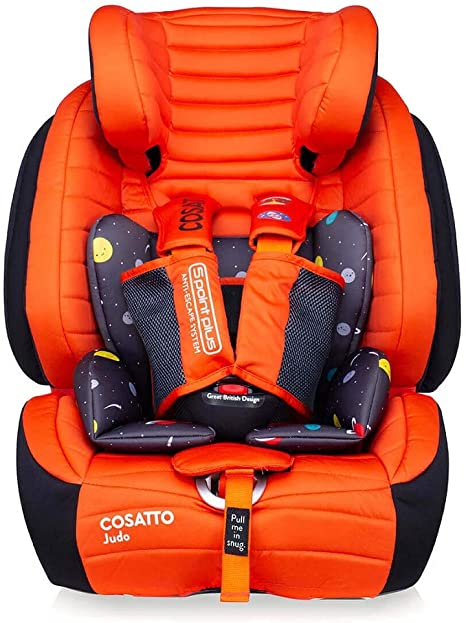Cosatto Judo Child Car Seat - Group 1/2/3, 9-36 kg, 9 months-12 years, ISOFIX, Forward Facing, Removable Harness, Reclines (Spaceman): image
