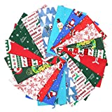 JEEBAY 20 Stücke Weihnachten Muster Baumwollstoff