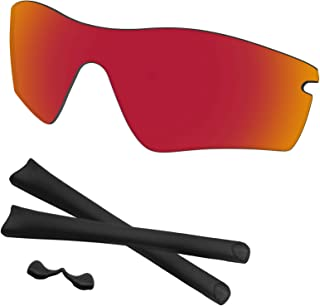 Predrox Radar Path Lenses & Rubber Kits Replacement for Oakley Polarized