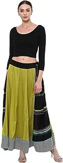 Fressia Fabrics Women's Cotton Readymade Saree Blouse StretchableCrop Top Choli Bustier Top