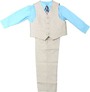 Reaction Boys 4-Piece Pants Suit Set, Khaki/Blue