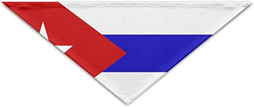 Osmykqe Cuba Flag Pet Scarf Dog Bandana Pet Collars Triangle Neckerchief Puppy Triangle Triangle Bibs Scarfs For Pet Dogs