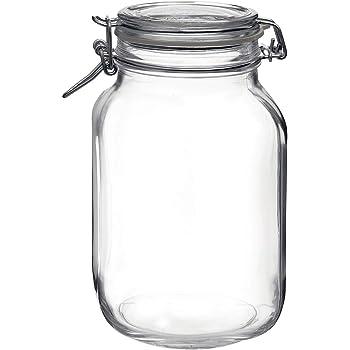 Bormioli Rocco Fido Glass Canning Jar Italian 67¾ oz-2 Liter, 67.75 oz, Clear