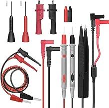 Multímetro Cables de medición Test Lead–Set, Cable de prueba con mini pinzas de cocodrilo, conectores de banana, de gancho de prueba, SMD Pinzas de prueba, puntas de prueba, negro