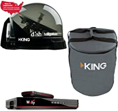 RV Wholesale Direct DTP4900 Dish Tailgater Satellite Bundle with Carry Bag & Wally - Premium Portable/Roof Mountable Satel...